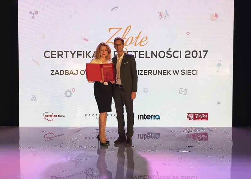 Złoty Certyfikat Rzetelności 2017